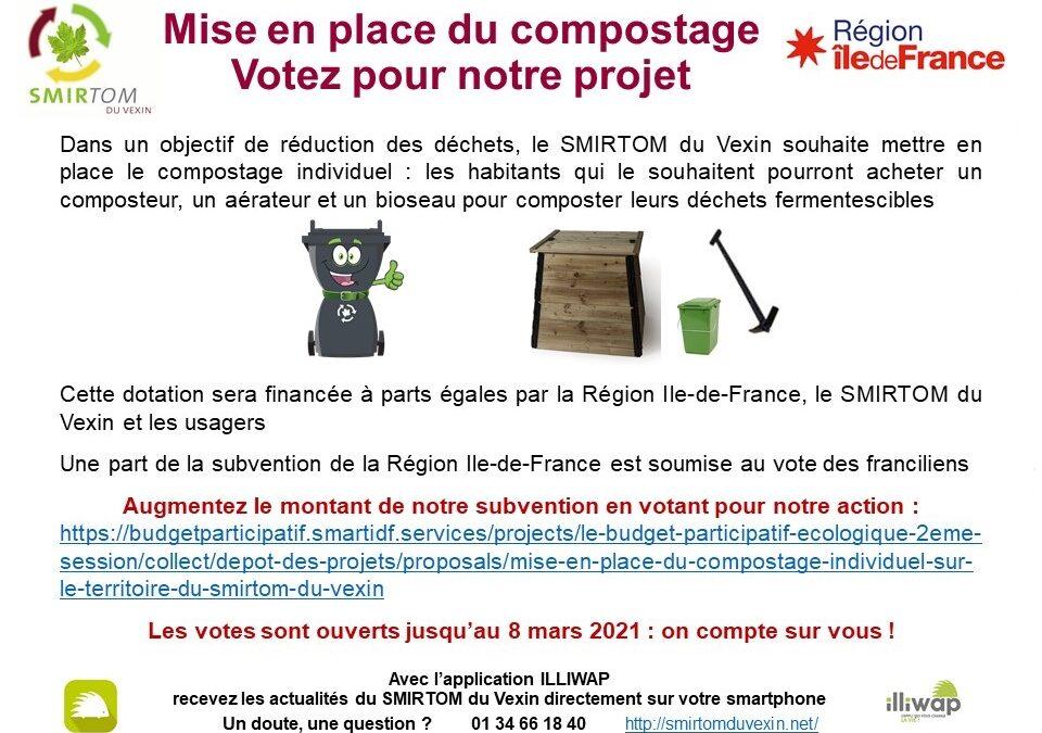Compostage individuel, soutenez le projet du SMIRTOM du Vexin