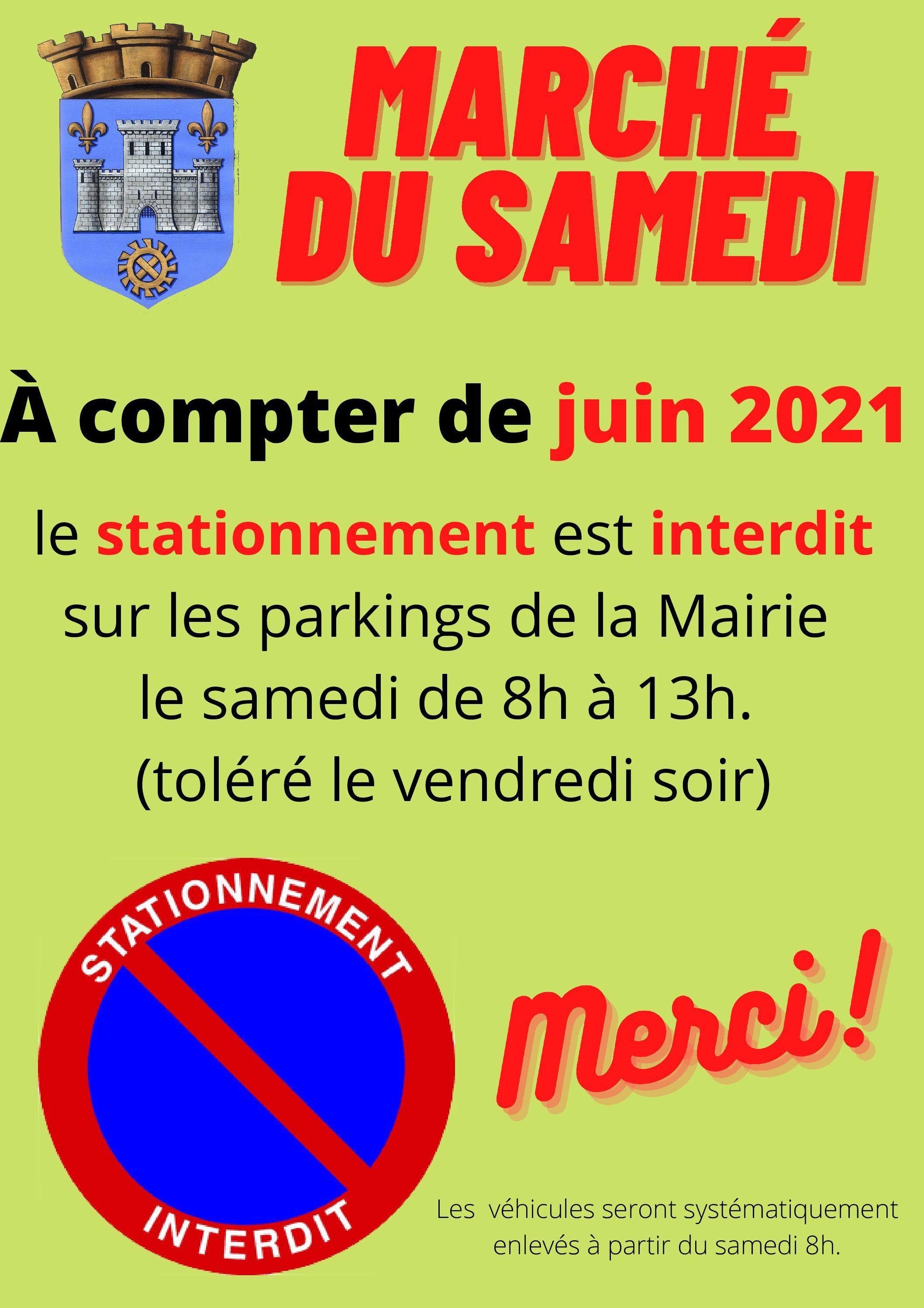 Stationnement sur les parkings de la Mairie