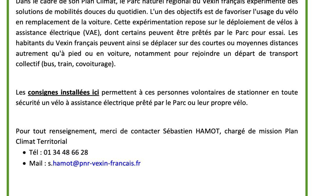 Consignes sécurisées pour vélos à la gare de Chars (gratuit)