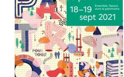 Journées européennes du Patrimoine – 18 & 19 septembre 2021